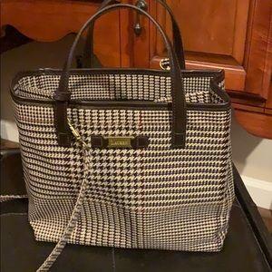 Preowned brown houndstooth Ralph Lauren bag